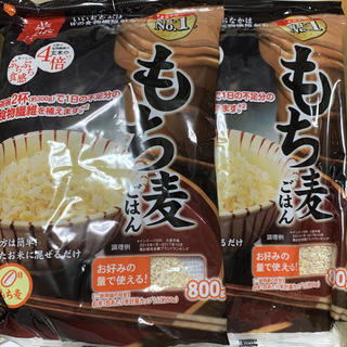 はくばく もち麦 ごはん ぷちぷち食感 大麦  800g×2袋  ①(米/穀物)