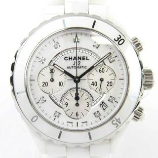 シャネル(CHANEL)のシャネル J12 9Pダイヤモンド クロノ ウォッチ 腕時計(腕時計(アナログ))