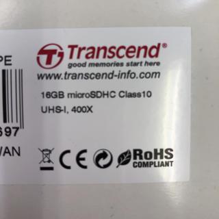 トランセンド(Transcend)のTranscendトランセンドマイクロSD microSDHC 16GB(その他)