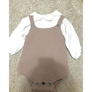 キャラメルベビー&チャイルド(Caramel baby&child )のAosta 韓国子供服ニットロンパース(ロンパース)