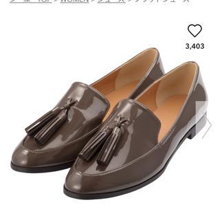 ジーユー(GU)の現行完売品!GU タッセルローファー ダークグレー(ローファー/革靴)