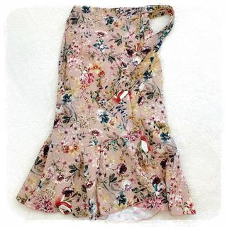 ZARA - ZARA 花柄ラップスカート XS