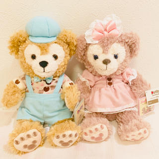 Disney - 香港♡ディズニー♡ダッフィー♡シェリーメイ♡バレンタイン♡ぬいぐるみ♡SSサイズ