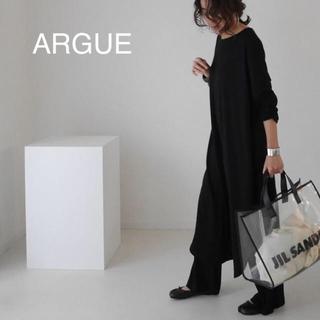 ARGUE  SMOOTH WOOL DRESS SET-UP(BLACK)