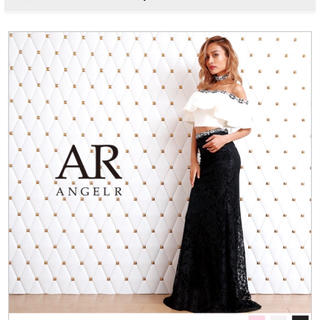 エンジェルアール(AngelR)のAngelR  フリルオフショルダードレス  高級ドレス(ナイトドレス)