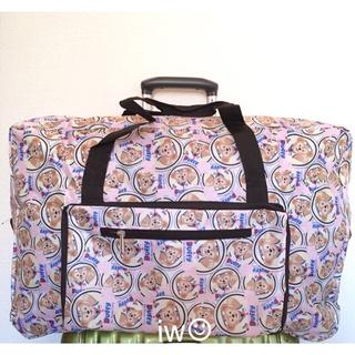 ディズニー(Disney)のダッフィー ピンク ボストンバッグ 旅行バッグ キャリーオンバッグ(ボストンバッグ)