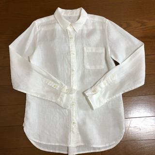 MUJI (無印良品) - 無印良品計画 リネンシャツ 麻100% サイズS  白シャツ ブラウス