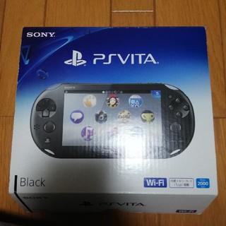 プレイステーションヴィータ(PlayStation Vita)の【美品】PSVITA 2000 本体 ブラック(携帯用ゲーム本体)