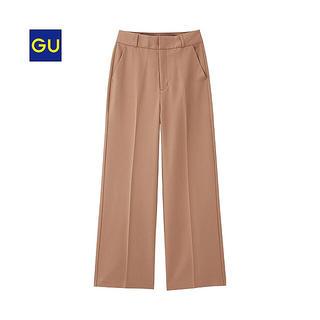 ジーユー(GU)のGU/ジーユー   ワイドパンツ ブラウン キャメル ベージュ S(カジュアルパンツ)