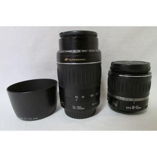 キヤノン(Canon)のCANON EF-S 18-55 + EF 55-200 2本セット(デジタル一眼)