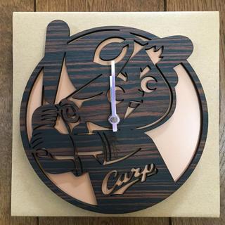 ヒロシマトウヨウカープ(広島東洋カープ)のカープ坊や木製時計(記念品/関連グッズ)