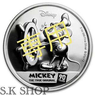 ディズニー(Disney)のディズニー ニウエ ミッキーマウス シルバーコイン プルーフ 銀貨 90周年記念(貨幣)