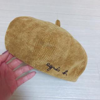 新品未使用 子供用ベレー帽 黄色 イエロー(帽子)