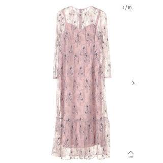 アーバンリサーチロッソ(URBAN RESEARCH ROSSO)のkaene レースワンピース ドレス(ミディアムドレス)