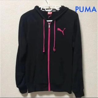 プーマ(PUMA)のPUMA  ブラック×ピンク  パーカー(パーカー)