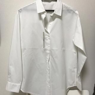 ジーユー(GU)のGU 新品タグ付 オーバーサイズシャツ 白 S(シャツ/ブラウス(長袖/七分))