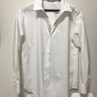 ジーユー(GU)のGU 2way オーバーサイズシャツ S(シャツ/ブラウス(長袖/七分))