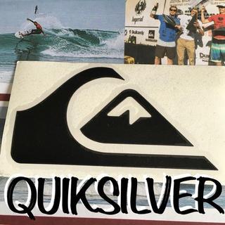 クイックシルバー(QUIKSILVER)のQUIKクイックシルバーUS限定型抜きiconダイカットステッカーblack(サーフィン)