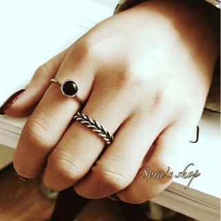 新作*ブラックパールリング silver ring S925 **JER-008(リング(指輪))