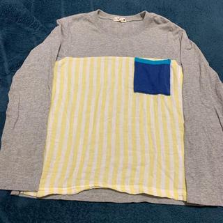 ブランシェス(Branshes)のbranshes ブランシェス ストライプ切替え長袖Tシャツ 130cm(Tシャツ/カットソー)
