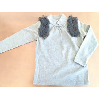 女児 110cm 秋冬 カットソー トップス ライトグレー 117(Tシャツ/カットソー)