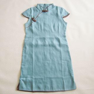 チャイナドレス ブルー 140cm(ドレス/フォーマル)