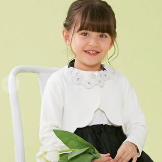 エフオーキッズ(F.O.KIDS)のアプレレクール 即完売品 フォーマルボレロ 110(ドレス/フォーマル)
