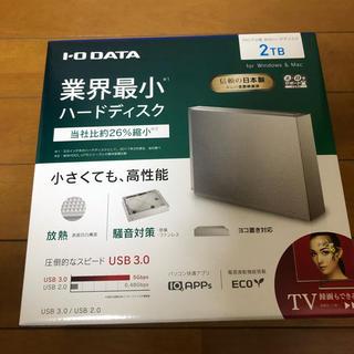 アイオーデータ(IODATA)の【新品】外付けHDD 2TB 白 HDCZ-UT2W【未使用】(テレビ)