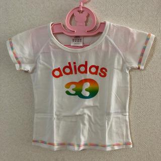 アディダス(adidas)の女児adidas  100cm白Tシャツ(Tシャツ/カットソー)