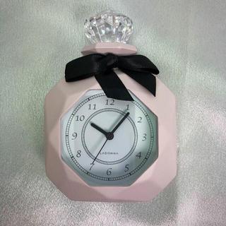 フランフラン(Francfranc)の【新品】パヒューム型置時計(ピンク)(置時計)