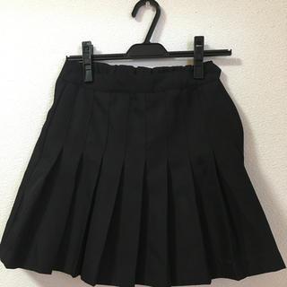 SPINNS - SPINNS プリーツスカート 黒