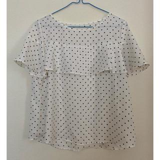 ジーユー(GU)のGU ドットTシャツ(Tシャツ(半袖/袖なし))