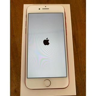 アイフォーン(iPhone)の【美品】iPhone7 red 128GB SIMフリー(スマートフォン本体)