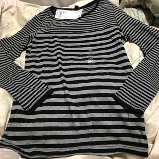 ユニクロ(UNIQLO)のユニクロ ボーダークルーネック 長袖シャツ  140(Tシャツ/カットソー)