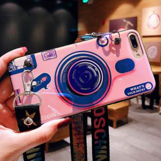 2wayカメラ型iphoneケース☀取外し可能なストラップ付&スタンド付☀(iPhoneケース)