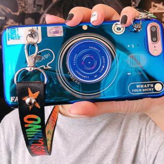 2wayカメラ型iphoneハードケース☀取外し可能なストラップ付&スタンド付☀(iPhoneケース)