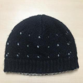 ワイスリー(Y-3)のY-3 ヨウジヤマモト  アディダス ニット帽 ブラック ウール 美品(ニット帽/ビーニー)