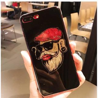 大人気 iPhone7 iPhone8 金ラメ サングラス 髭ボス ケース(iPhoneケース)