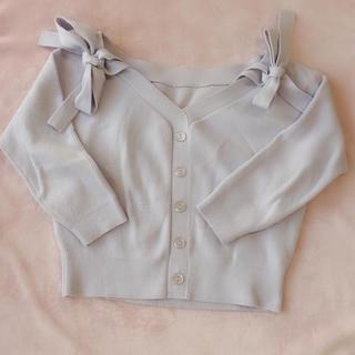 リランドチュール(Rirandture)のリランドチュール 肩リボン トップス  春(ニット/セーター)