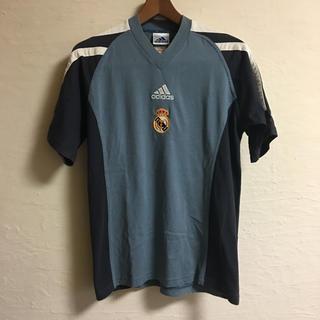 アディダス(adidas)のアディダス サッカー レアルマドリード Tシャツ M ライトグレー(Tシャツ/カットソー(半袖/袖なし))