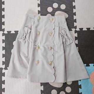シマムラ(しまむら)の膝丈スカート ベージュ (ひざ丈スカート)