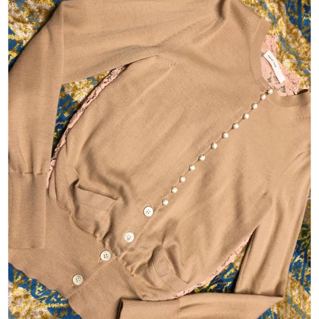 sacai luck(サカイラック)のsacai  luck サカイラック☆バックレースカーディガン レディースのトップス(カーディガン)の商品写真