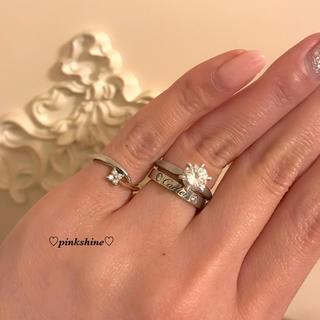 ヴァンドームアオヤマ(Vendome Aoyama)のVendome Aoyama K18×プラチナ♡ダイヤモンドピンキーリング♡(リング(指輪))