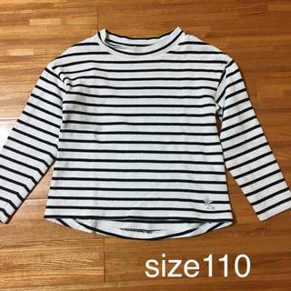 ジーユー(GU)のボーダーTシャツ 110cm(Tシャツ/カットソー)