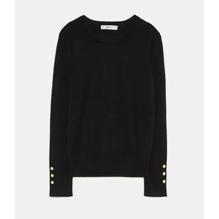 ZARA - ZARA♡ボタン付きベーシックセーター