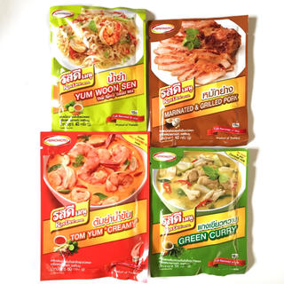 アジノモト(味の素)の味の素 タイ料理 調味料 トムヤム ヤムウンセン グリーンカレー コームーヤーン(調味料)