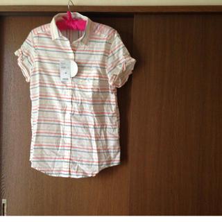 ジーユー(GU)のg.u♡ロールアップボーダーシャツ(シャツ/ブラウス(半袖/袖なし))