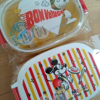 ディズニー(Disney)の新品 ミッキー スヌーピー 日本製 お弁当箱セット 保育園や幼稚園に(弁当用品)
