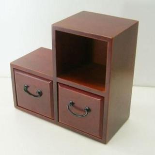 【新品】木製 26cm 小物入れ(リビング収納)