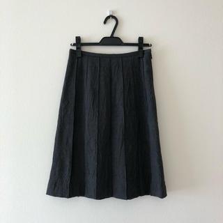 アバハウスドゥヴィネット(Abahouse Devinette)の美品! アバハウスドゥヴィネット シワ加工プリーツスカート(ひざ丈スカート)